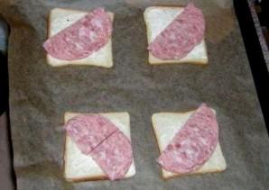 Бутерброды с яйцом и колбасой - фото шаг 2