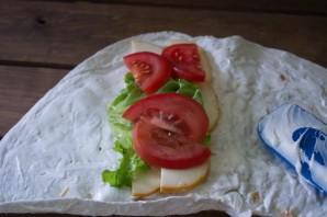 Лаваш с копченым сыром - фото шаг 5