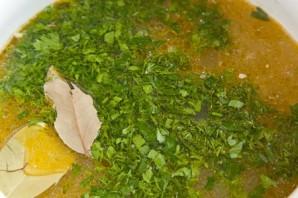 Чечевичный суп с грибами  - фото шаг 7