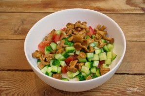 Салат с сыром фета - фото шаг 3