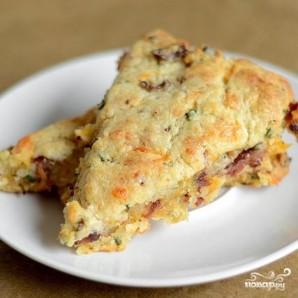 Лепешки с беконом, луком и сыром - фото шаг 7