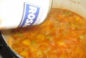 Фасолевый суп на курином бульоне - фото шаг 3