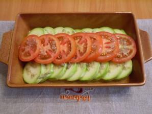 Кабачки, запеченные с помидорами и сыром - фото шаг 4