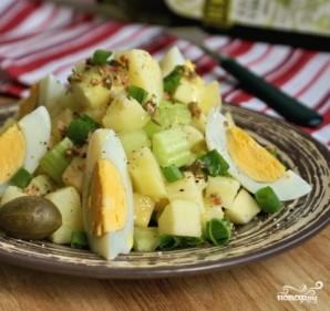 Салат картофельный с яблоками - фото шаг 4