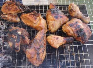 Курица на решетке - фото шаг 5