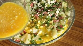 Омлет с картошкой в духовке - фото шаг 6