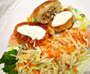 Зразы куриные с яйцом - фото шаг 5
