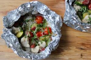 Курица с овощами в фольге - фото шаг 9