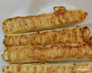 Лаваш с сыром обжаренный - фото шаг 5