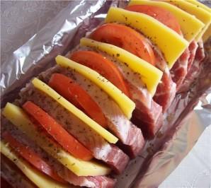Свинина, запеченная с помидорами - фото шаг 2