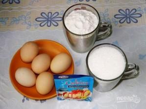 Торт бисквитный с фруктами - фото шаг 1