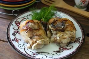 Окорочка с грибами в духовке - фото шаг 5