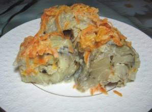 Тушеный минтай с морковью и луком - фото шаг 6