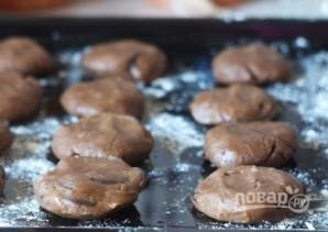 Шоколадное печенье с кусочками шоколада - фото шаг 7