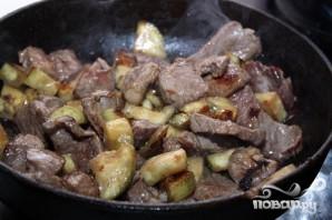 Мясо с баклажанами - фото шаг 4