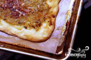 Луковый пирог с горчицей и фенхелем - фото шаг 3