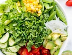 Мексиканский овощной салат - фото шаг 4