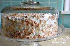 Кокосовый торт со сливочной начинкой - фото шаг 4