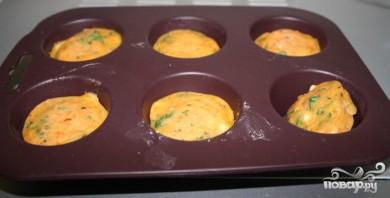 Морковные кексы с кориандром и кукурузой - фото шаг 9