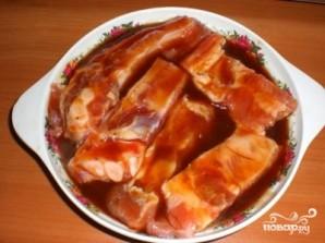 Свиные ребрышки на мангале - фото шаг 4