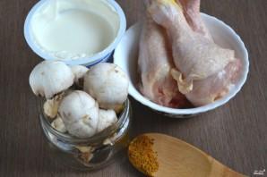 Курица с грибами в сметанном соусе - фото шаг 1