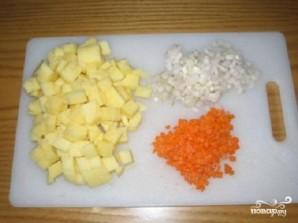 Картофельный суп-пюре с сыром - фото шаг 1
