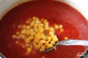 Томатный суп с кукурузой - фото шаг 6