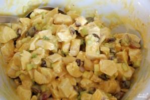 Куриный салат с соусом карри - фото шаг 11