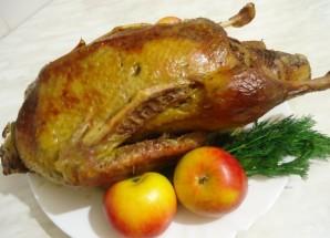 Рождественская утка в рукаве - фото шаг 6