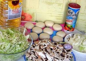 Пирожки с капустой и грибами - фото шаг 1