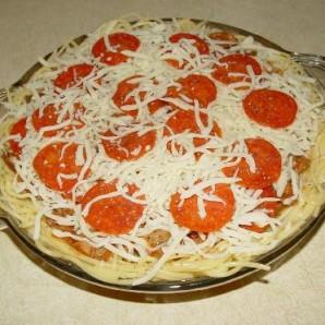 Пирог из спагетти - фото шаг 6