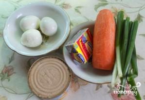 Салат с печенью минтая - фото шаг 1