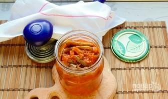 Салат из стручковой фасоли на зиму - фото шаг 5