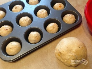 Булочки с соленым сыром и вялеными помидорами - фото шаг 9