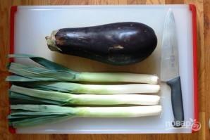 Салат с луком-порей - фото шаг 1