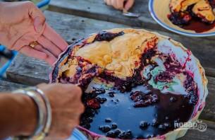 Пирог с черникой из бездрожжевого теста - фото шаг 7