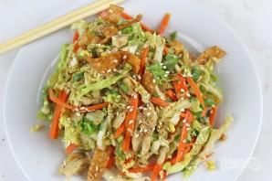 Салат с китайской капустой и курицей - фото шаг 5