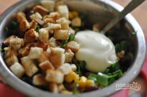 Салат из фасоли с сухариками - фото шаг 3
