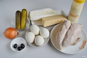 Пасхальный салат из курицы - фото шаг 1