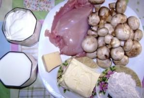 Жульен с грибами на сковороде - фото шаг 1