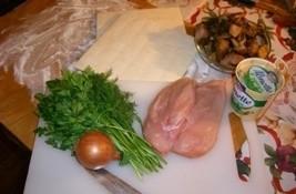 Суфле из курицы с грибами - фото шаг 1
