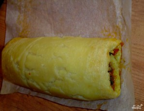Рулет из картофельного пюре - фото шаг 4