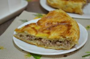 Пирог мясной из слоеного теста - фото шаг 7