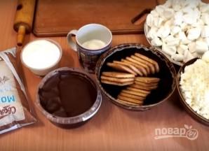 Творожный чизкейк с маршмеллоу без выпечки - фото шаг 1