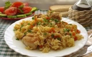 Плов с курицей и овощами - фото шаг 10