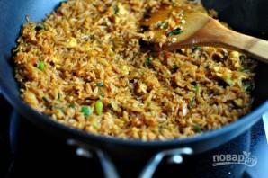 Жареный рис с соевым соусом - фото шаг 10