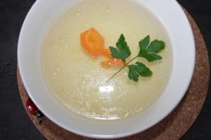 Овощной суп на курином бульоне - фото шаг 4