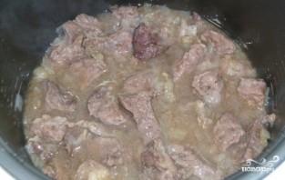 Тушеные овощи с мясом в мультиварке - фото шаг 2