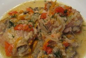 Курица с грибами и овощами - фото шаг 7