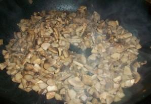 Блины с мясом и грибами - фото шаг 3